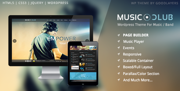 Music Club – Music/Band/Club/Party WordPress Theme