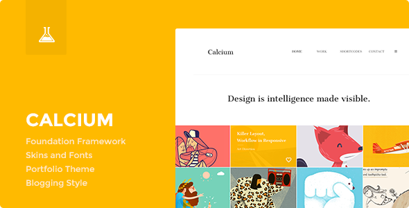 Calcium – Minimalist Portfolio & Blogging Theme