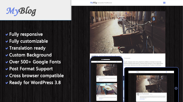 MyBlog – Responsive WordPress Theme for Personal Blog