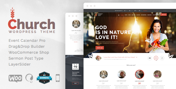 Church and Events – Responsive WordPress Theme
