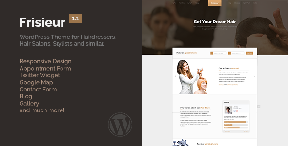 Frisieur – WordPress Theme for Hair salons