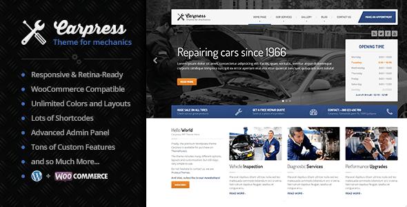 Carpress – WordPress Theme For Mechanic Workshops