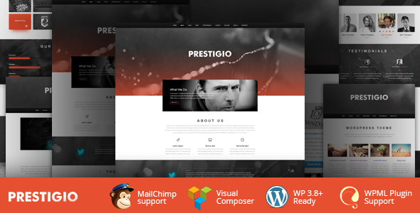 Prestigio One Page Parallax WordPress Theme