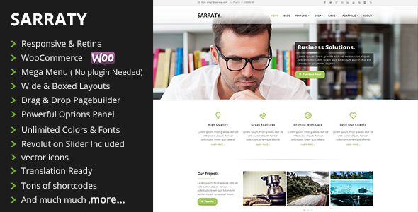 Sarraty – Retina Responsive Multi-Purpose Theme