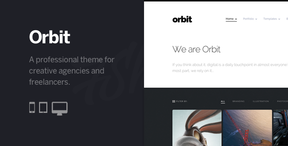 Orbit – Professional WordPress Portfolio Theme