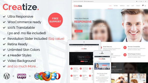 Creatize | Ultimate Responsive Business Theme
