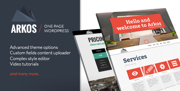ARKOS – WordPress Responsive One-page