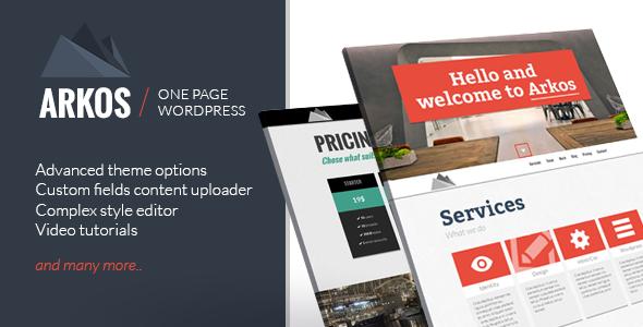 ARKOS – WordPress Responsive One-page