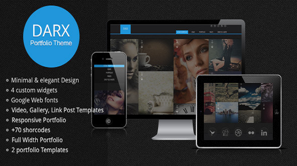 Darx – Responsive Portfolio WordPress Theme