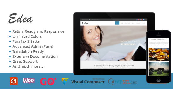Edea Responsive Multipurpose WordPress Theme