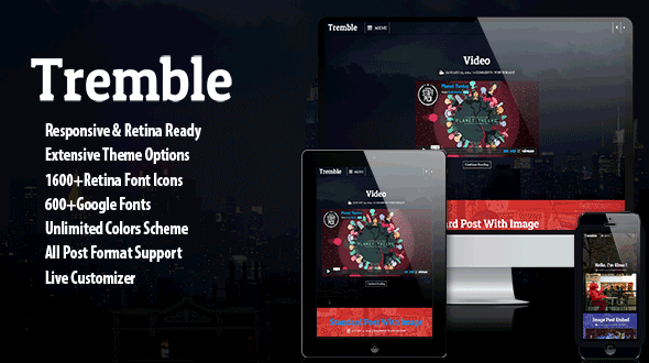 Tremble – Parallax Blogging Theme