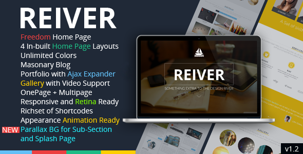 REIVER – WordPress One Page Responsive Portfolio