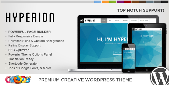 WP Hyperion Responsive Creative WordPress Theme