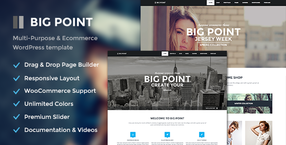 Big Point – Multi-Purpose & Ecommerce Theme