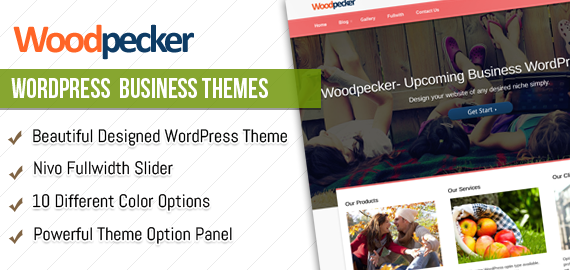 Woodpecker WordPress Business Theme
