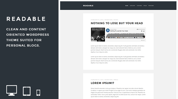 Readable – Minimal WordPress Blog Theme