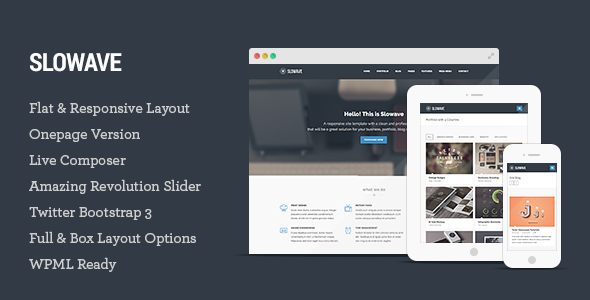 Slowave – Multipurpose Responsive WordPress Theme