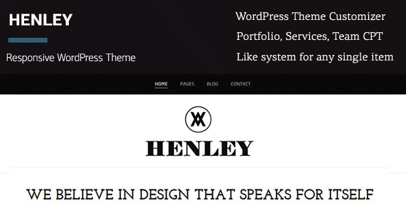 Henley – WordPress Portfolio/Blogging Theme