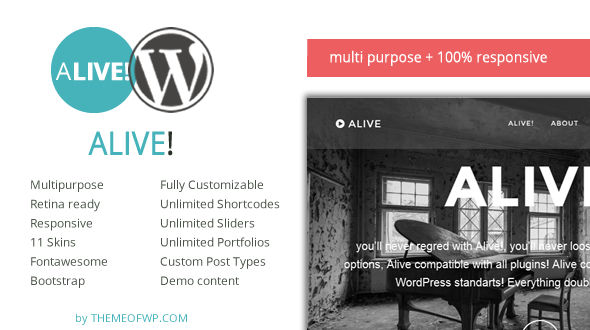 Alive Multipurpose Responsive WordPress Theme