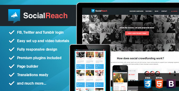 Social Reach – The Crowd-Speaking WordPress Theme
