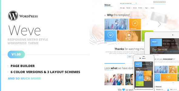 Weve – Responsive Metro Style WordPress Theme