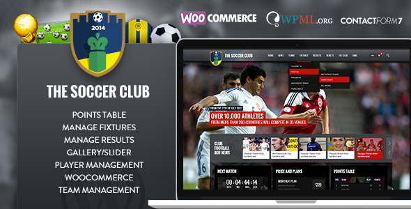 Soccer Club – Sports and Events News theme