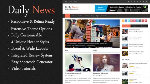 DailyNews – Responsive WordPress Magazine Theme