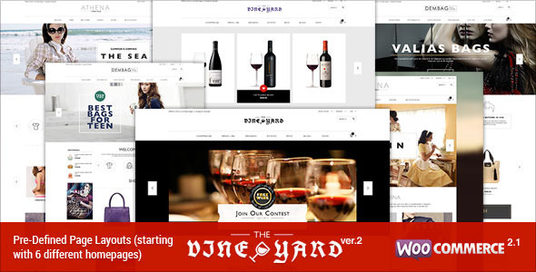 Responsive WooCommerce Theme – WineStore