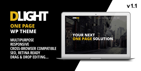 D-Light – One Page WordPress Creative Template