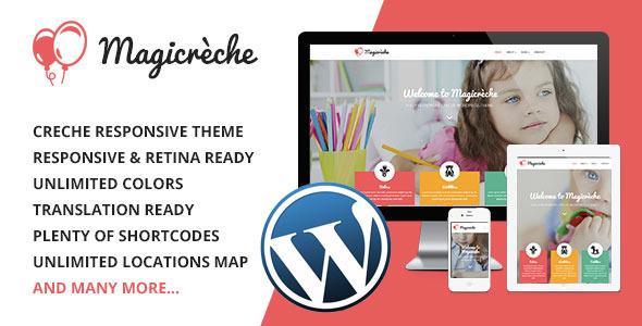 Magicreche – Responsive Crèche WordPress Theme