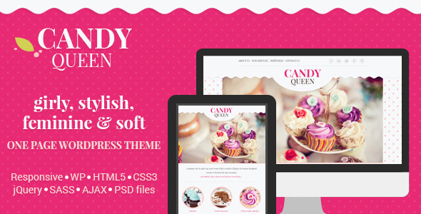 Candy Queen – Responsive One Page Theme