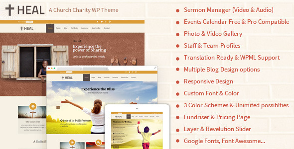 Heal Church Responsive WordPress Theme