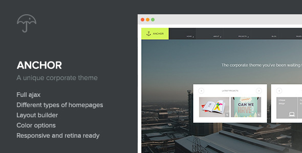 Anchor – Creative-Agency WordPress Theme