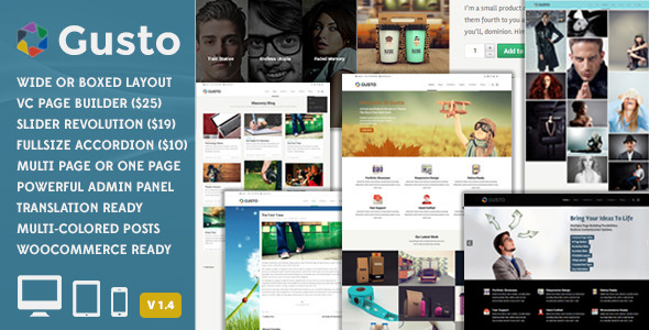 Gusto – Vanguard WordPress Theme