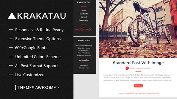 Krakatau – Modern Blog WordPress Theme