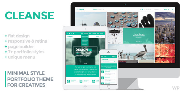 Cleanse – Minimal Style WordPress Portfolio Theme