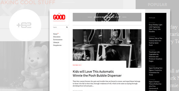 Good – Magazine WordPress Theme