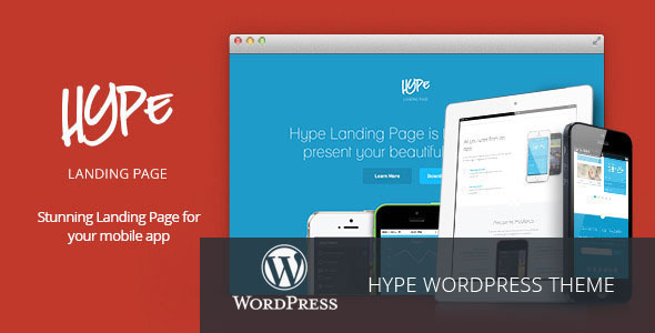 Hype – WordPress App Landing Page