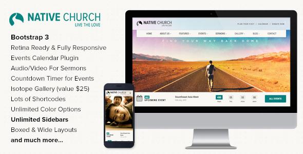 NativeChurch – Multi Purpose WordPress Theme