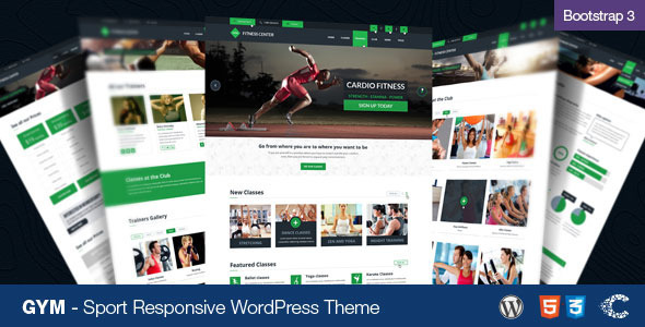 GYM – Sport Fitness Bootstrap Responsive Theme