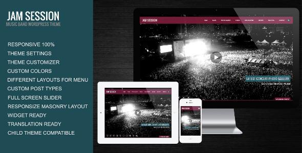 JamSession – Music & Music Band WordPress Theme