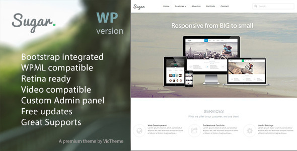 Sugar – Business Responsive WordPress Theme