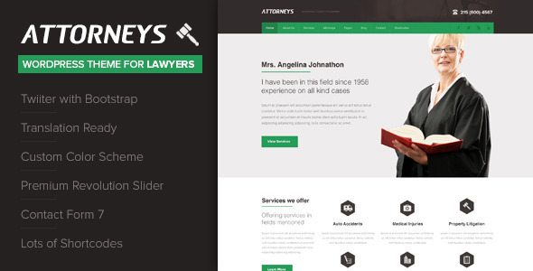 Attorney – Corporate WordPress Theme
