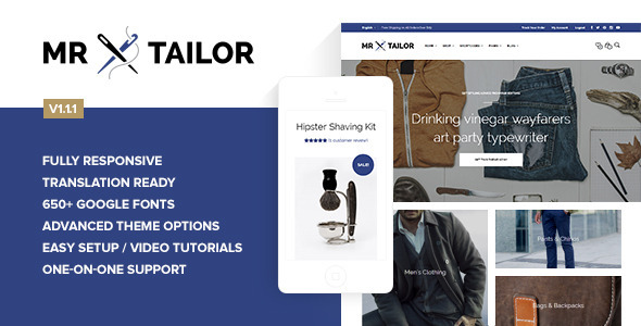 Mr. Tailor – Retina Responsive WooCommerce Theme