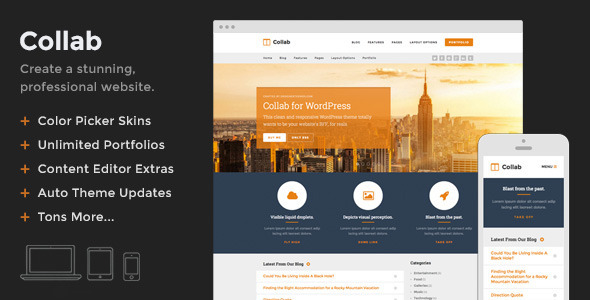 Collab – Create a Beautiful Website with WordPress