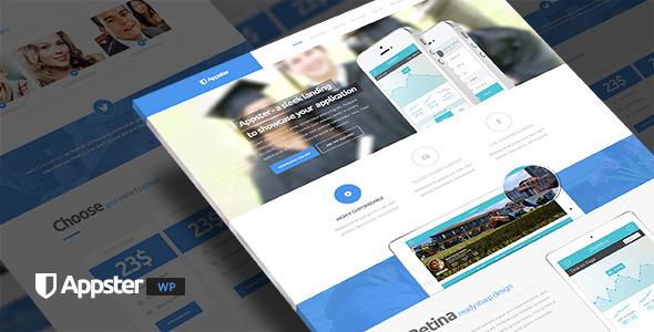 Appster – Clean Minimal App Landing Page WordPress
