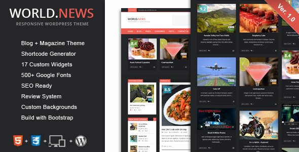 WorldNews – Responsive WordPress Blog\Magazine