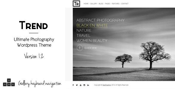 Trend – Photography WordPress Theme