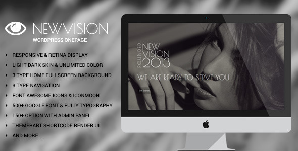 NewVision – One Page WordPress Theme