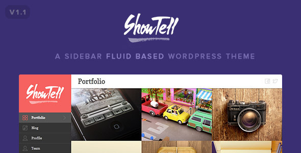 Show+Tell – A Sidebar Fluid Based WordPress Theme